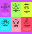 set of posters for peace day vector image vector image