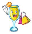 shopping mimosa character cartoon style vector image vector image