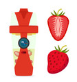 smart hydrate bottle with strawberry nutrition vector image vector image