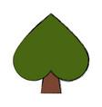 spade gambling symbol vector image vector image