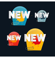 Tags with New Title on Black Background vector image vector image