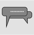 talk chat icon vector image vector image