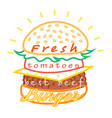 tasty burger food menu vector image
