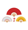 three chinese hand fans vector image