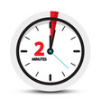 two minutes clock symbol 2 minute icon vector image vector image