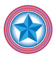 us flag symbol logo star in circle icon vector image vector image
