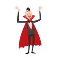 Vampire Dracula Halloween vector image