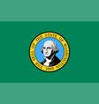 washington state flag vector image vector image