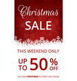 web banner for christmas vector image vector image