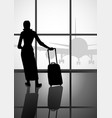 woman at the airport vector image vector image