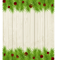 Wooden Christmas background vector image vector image