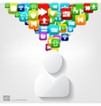 Person icon Application buttonSocial mediaCloud vector image