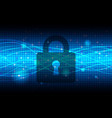 technology security blue abstract background vector image