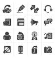 Black Blogging communication and social network vector image