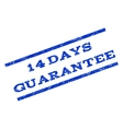 14 Days Guarantee Watermark Stamp vector image vector image