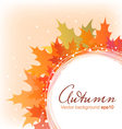 Abstract autumn leaves background eps10 vector image vector image
