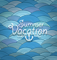 abstract background waves summer vacation vector image vector image