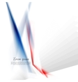 Abstract concept hi-tech blue red stripes vector image vector image