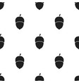 acorn icon in black style for web vector image vector image
