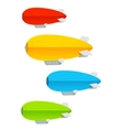 Airship colorful set vector image vector image