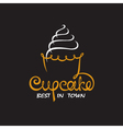 background with cupcake vector image vector image