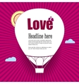 balloon cut out paper with words love vector image vector image
