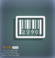 barcode icon On the blue-green abstract background vector image