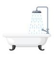 bath icon clean bathroom interior in rest room vector image