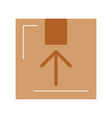 box carton delivery icon vector image vector image