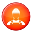 Builder icon flat style vector image vector image