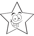 Cartoon smiling star vector image vector image