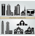 Charlotte landmarks and monuments vector image vector image