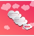 clouds login page vector image vector image