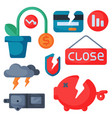 crisis symbols concept problem economy banking vector image vector image