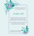 cute wedding invitation card template with hand vector image vector image