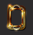 decorative vintage golden frames and borders vector image vector image