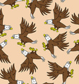 eagle pattern vector image vector image