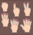 Fingers show numbers vector image