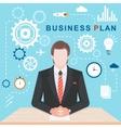 flat business plan vector image
