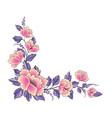 floral background flower rose bouquet decorative vector image
