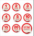 guarantee stickers red design collection vector image vector image
