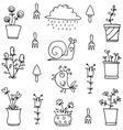 Hand draw of spring element vector image vector image