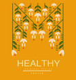 healthy poster original design ecological vector image vector image