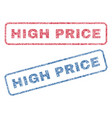 high price textile stamps vector image vector image