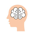 human brain mind or intelligence icon vector image vector image
