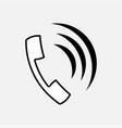 icon telefon kommunikation vector image