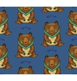 Indian seamless pattern of bear in vector image vector image