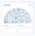 internet concept in half circle vector image