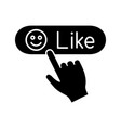 like button click glyph icon vector image vector image