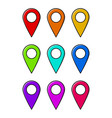 location pin for map design isolated on white vector image